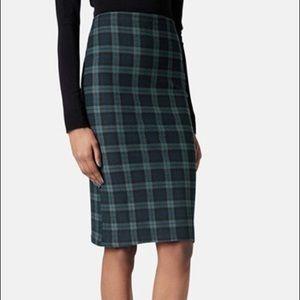TOPSHOP plaid Midi skirt